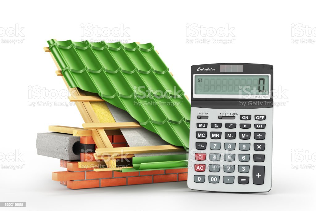 Roof installation costs stock photo