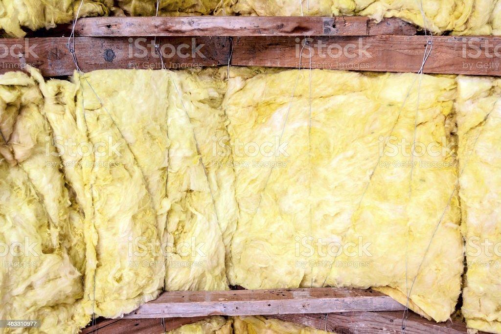 Roof insulation stock photo
