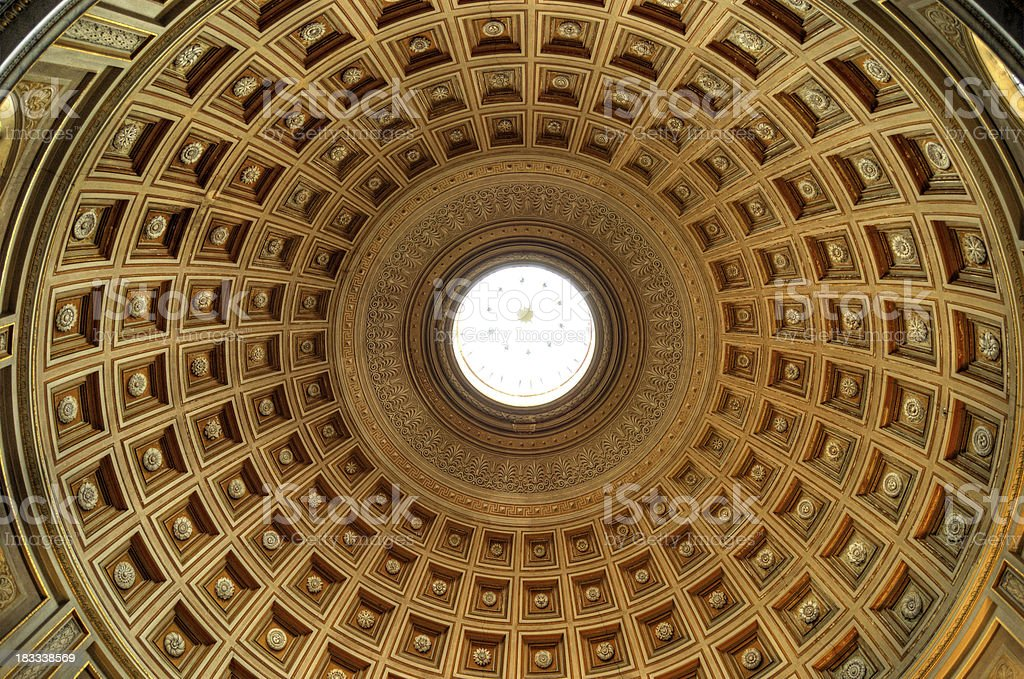 Roof Interior of the Pantheon stock photo