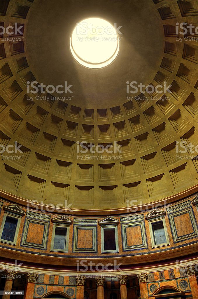 Roof Interior of the Pantheon royalty-free stock photo