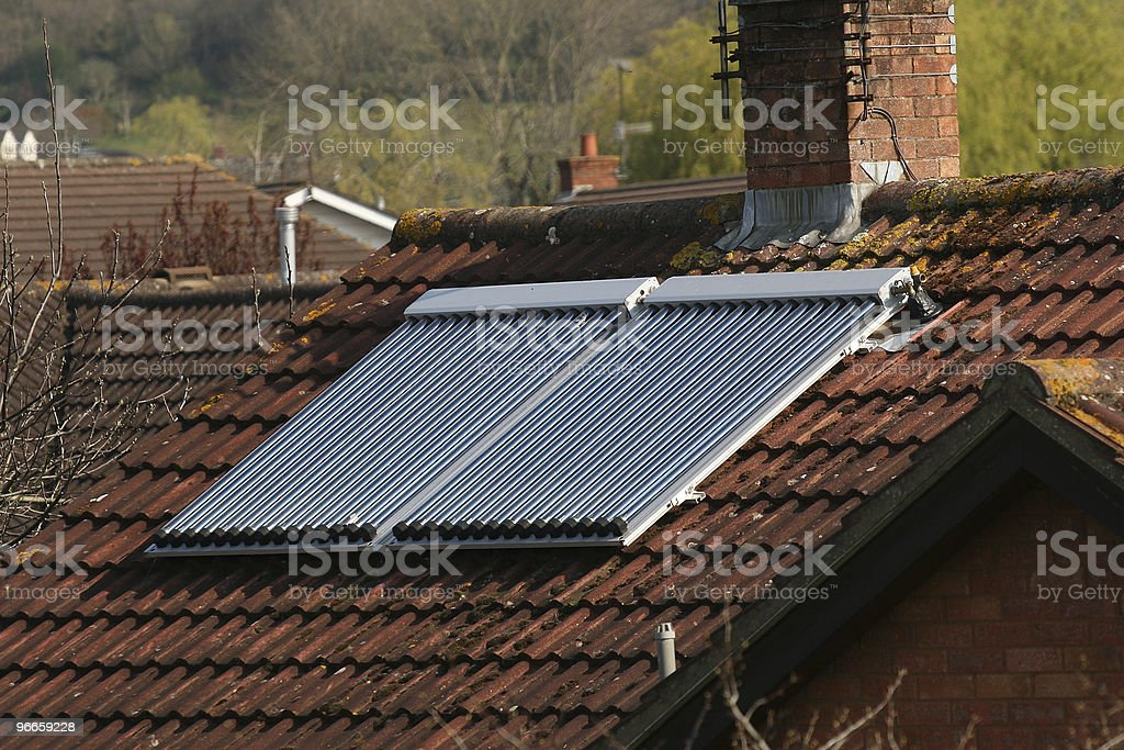 Roof mounted solar panel royalty-free stock photo