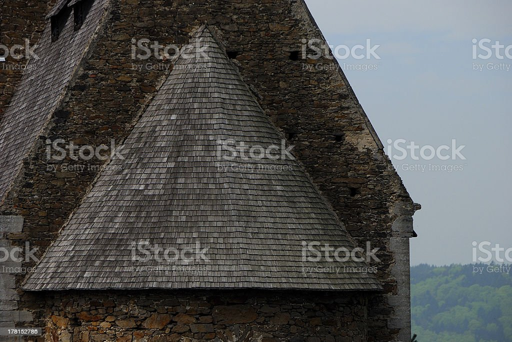 roof of a castle royalty-free stock photo