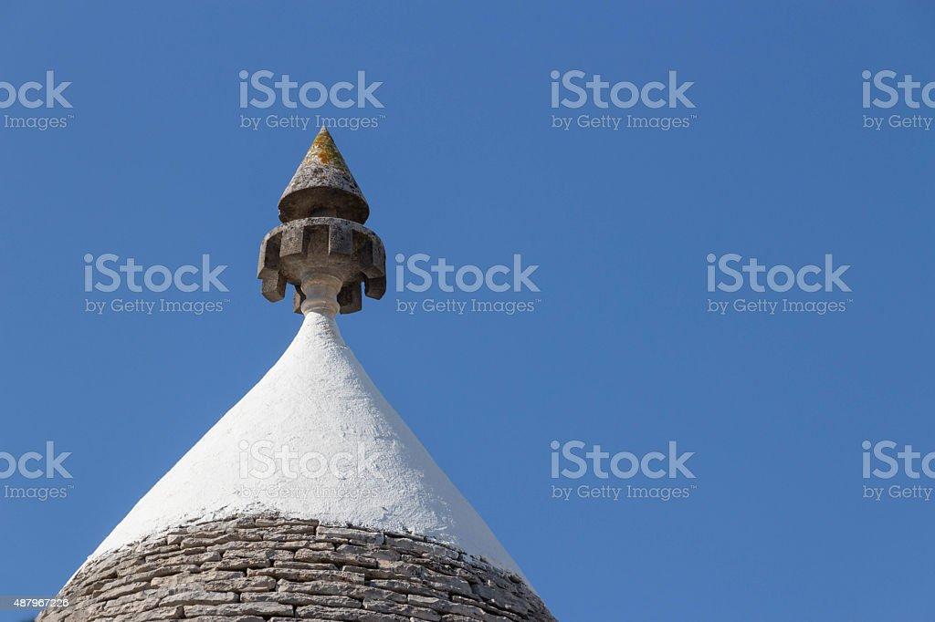Roof of Alberobello stock photo