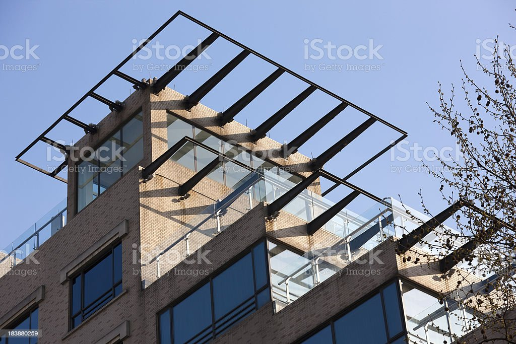 roof of architecture stock photo