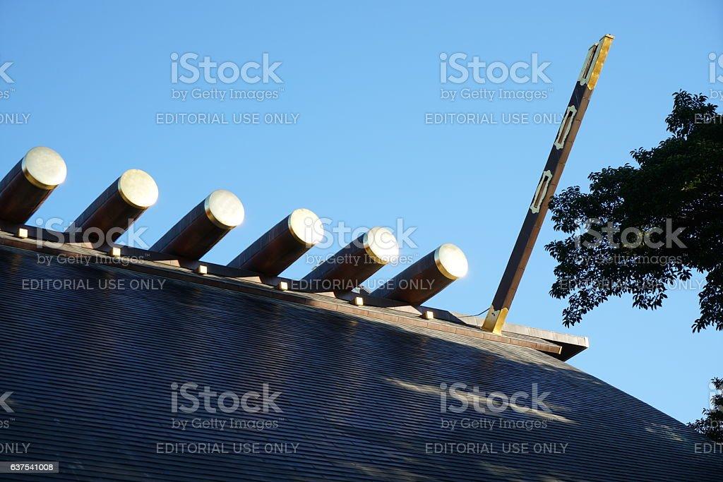 Roof of Atsuta shrine(torii) stock photo