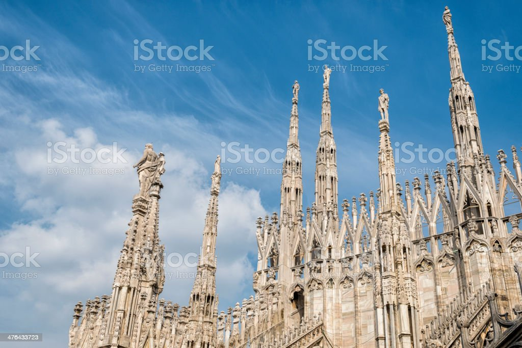 Roof of Cathedral in Milan. royalty-free stock photo