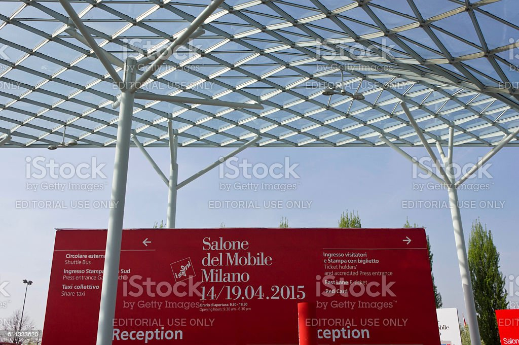 Roof of Fiera Milano, during Salone del Mobile fair stock photo