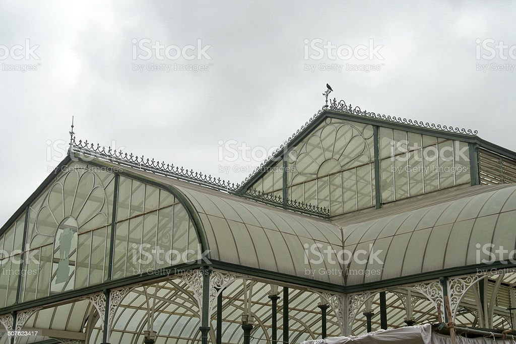 Roof of Glass House stock photo