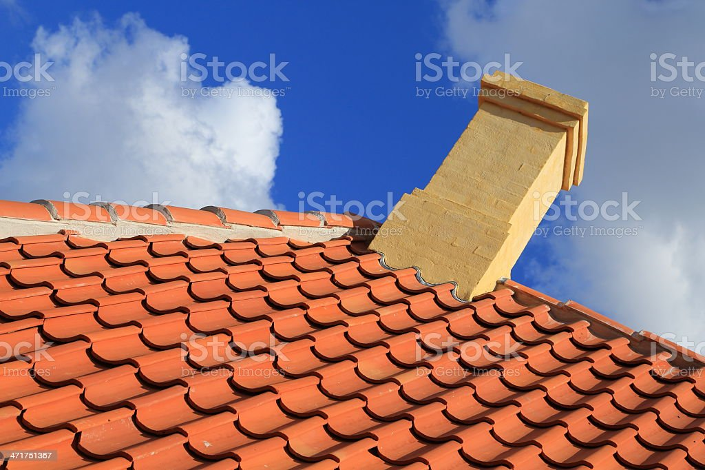 Roof of Hans Christian Andersen House Odense royalty-free stock photo