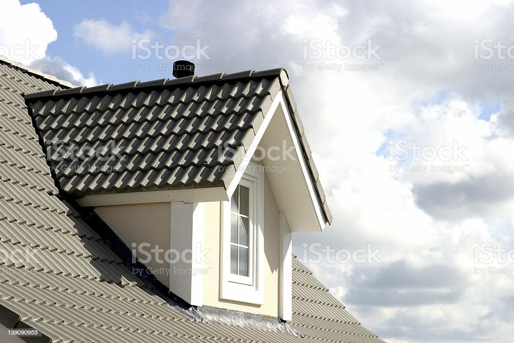 roof of house stock photo