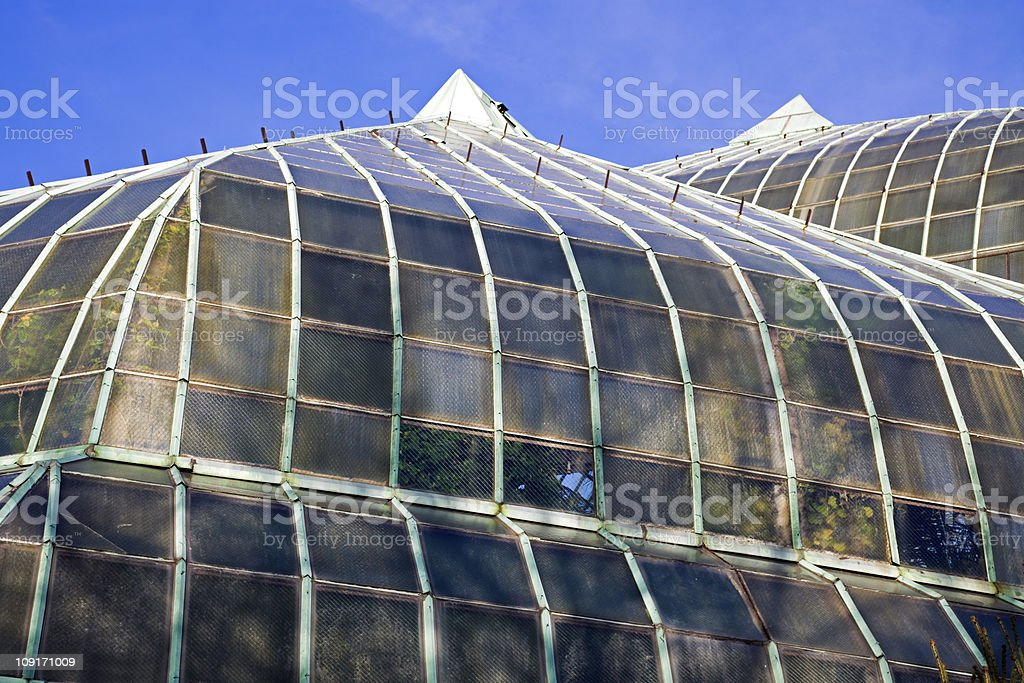 Roof of Lincoln Park Conservatory stock photo