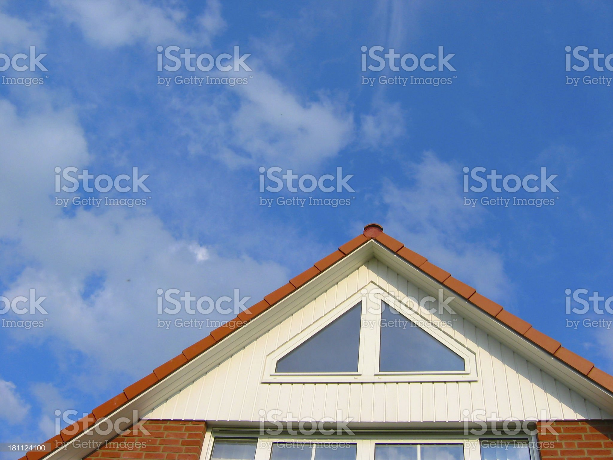Roof of new house royalty-free stock photo