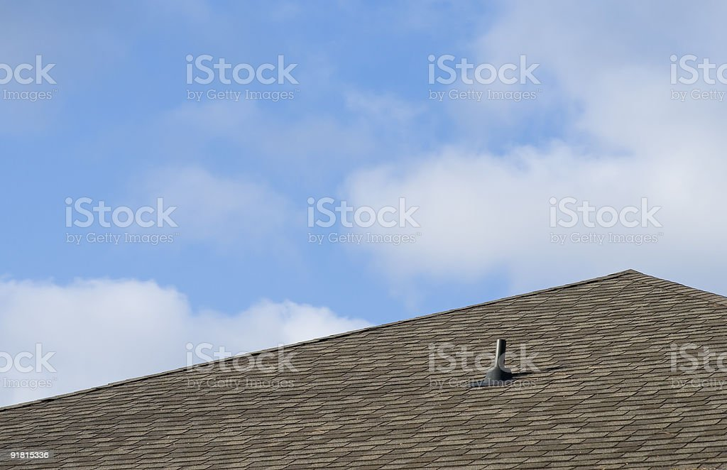 Roof of Residential House royalty-free stock photo