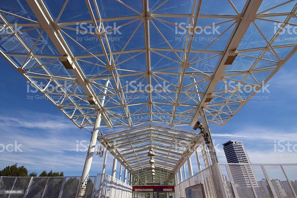 Roof of subway metro entrance royalty-free stock photo