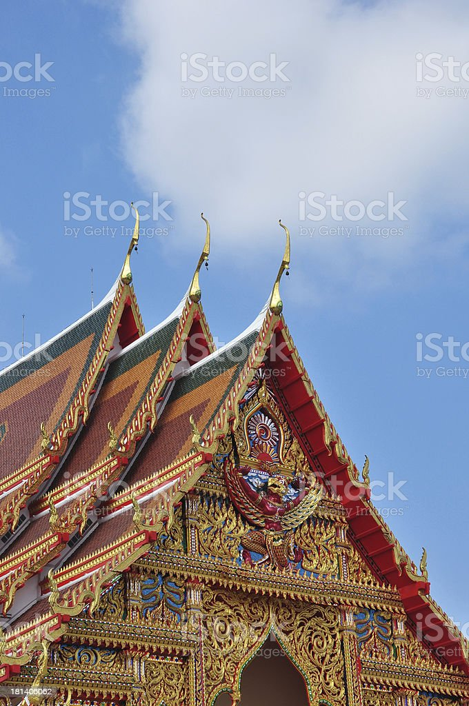 Roof of thai temple royalty-free stock photo