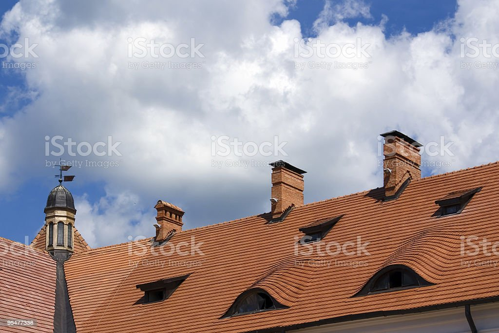 Roof of the Castle stock photo