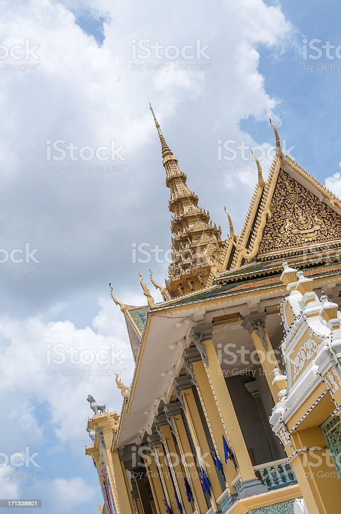Roof Of The Chan Chaya Pavilion In Phnom Penh, Cambodia stock photo