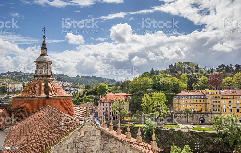 Roof of the Church of Saint Goncalo in Amarante stock photo
