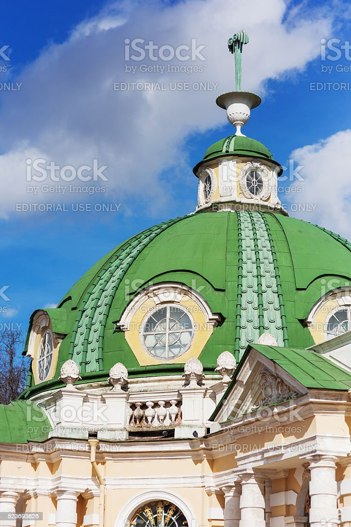 Roof of The Grotto in Kuskovo park, Moscow, Russia. stock photo