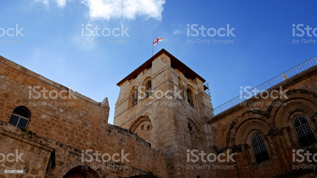 Roof of the Holy Sepulcher Church in Jerusalem stock photo