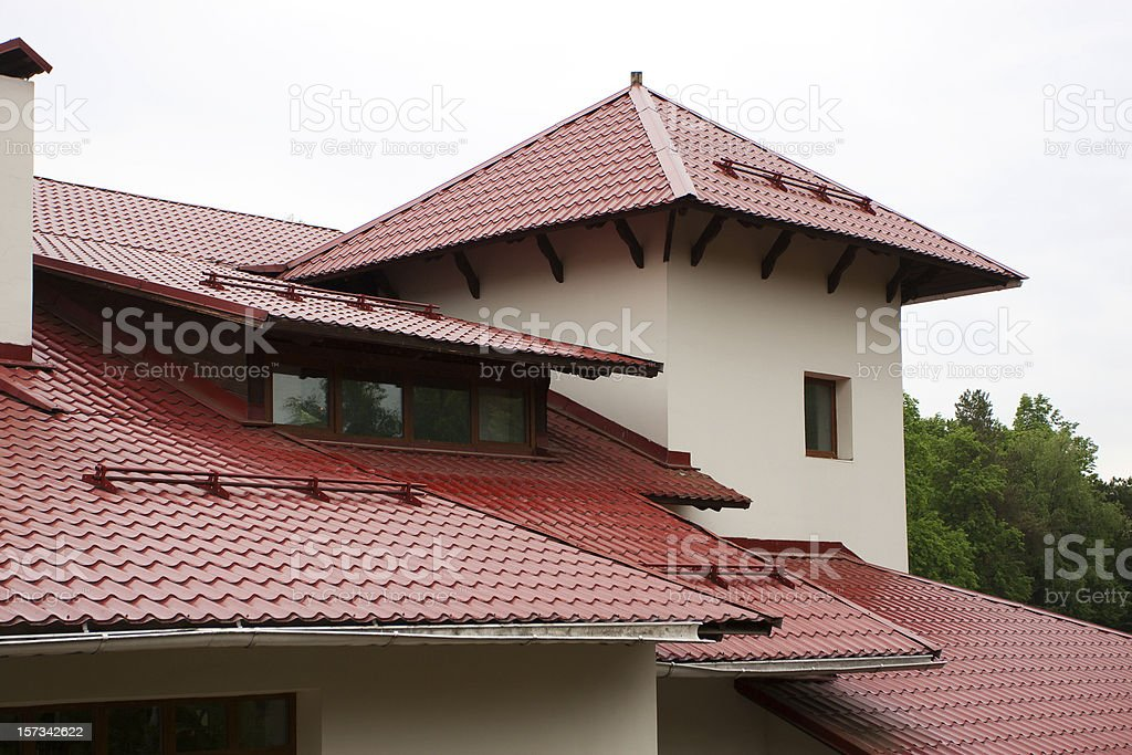 Roof of the house royalty-free stock photo