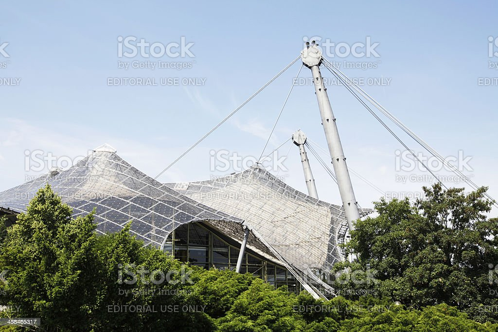 Roof of the Olympic Stadium, Munich royalty-free stock photo