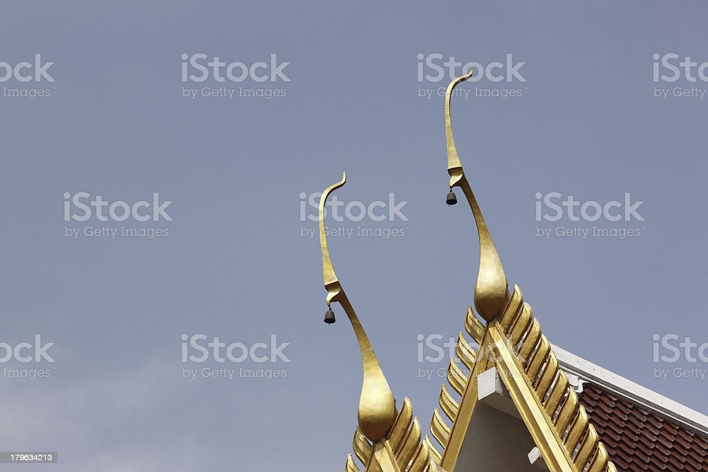 Roof of the temple. royalty-free stock photo