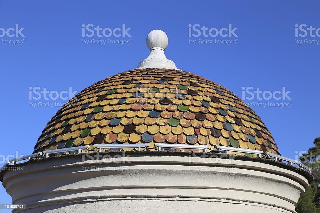 Roof of the Tour Bellanda, Nice, France stock photo