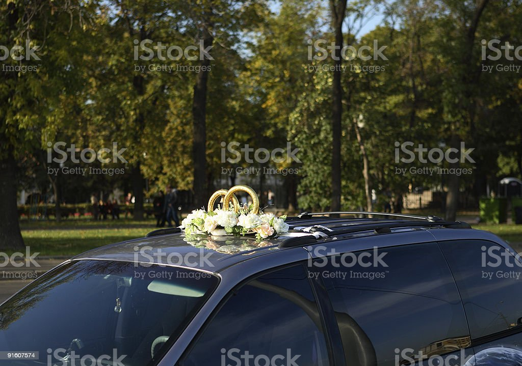roof of wedding limousine royalty-free stock photo