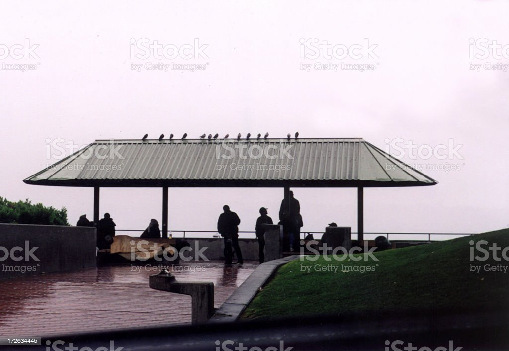 Roof Over Their Heads stock photo