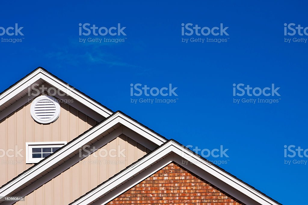 Roof Peaks with Copy Space stock photo