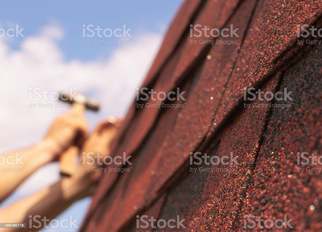 Roof repairs stock photo
