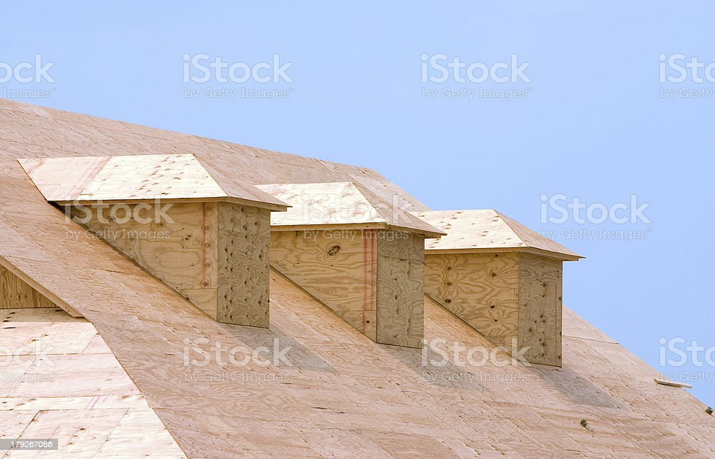Roof sheeting royalty-free stock photo