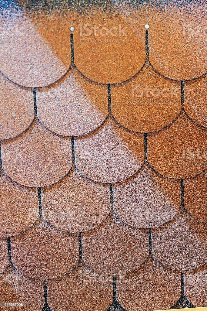 Roof shingle stock photo