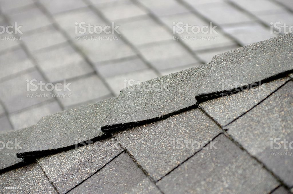 Roof Shingles Corner stock photo