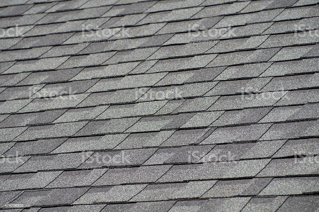 Roof Shingles stock photo
