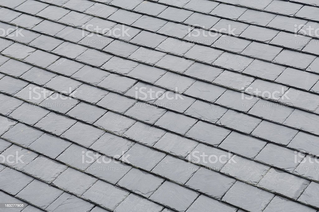 Roof slates stock photo