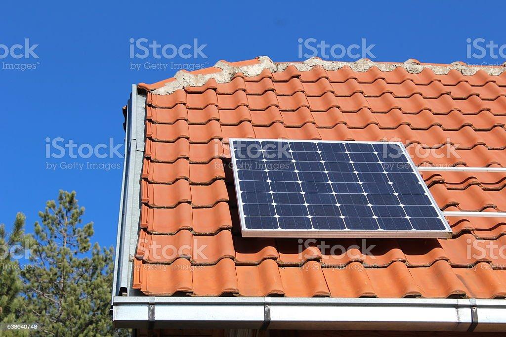 Roof Solar Panel stock photo
