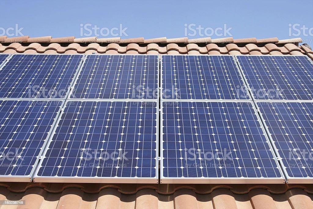 Roof Solar royalty-free stock photo