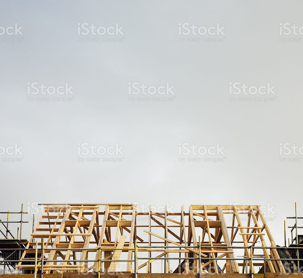 Roof structure of new house royalty-free stock photo