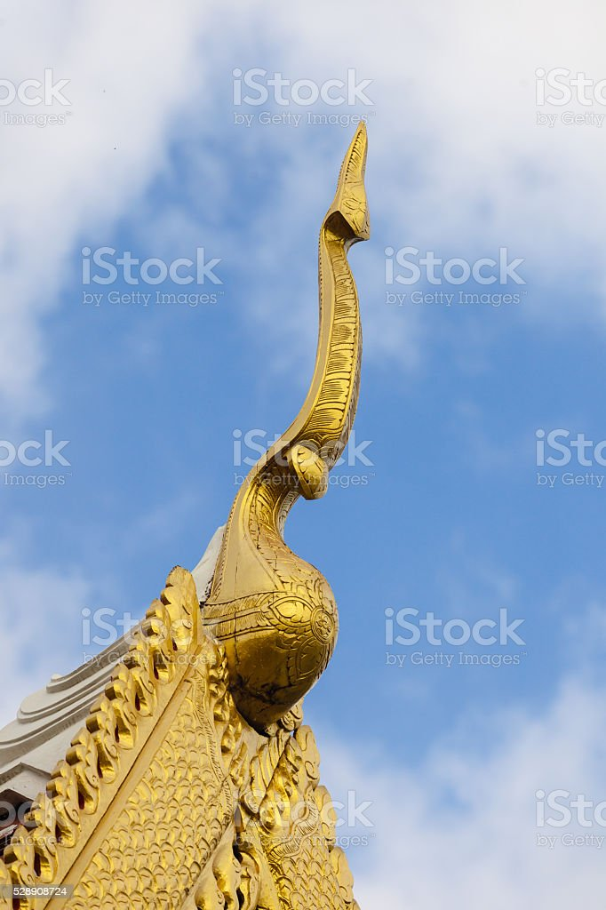 Roof style of thai temple. stock photo