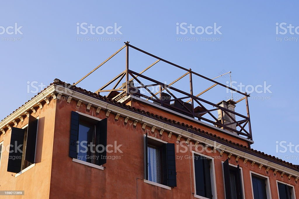 Roof terrace in Venice stock photo