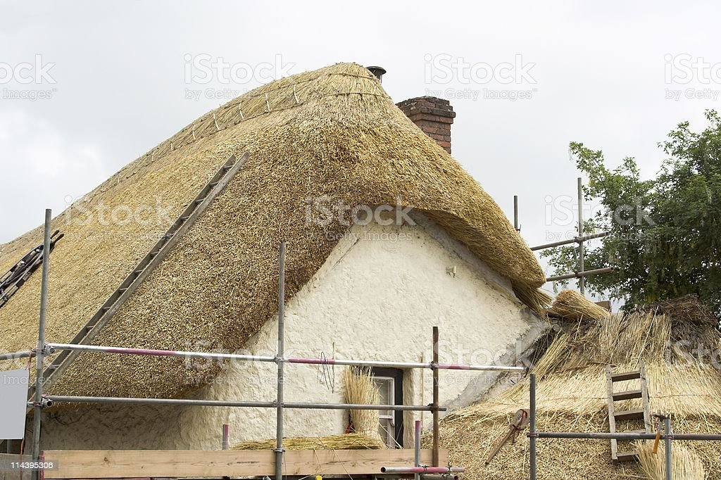 Roof Thatching royalty-free stock photo