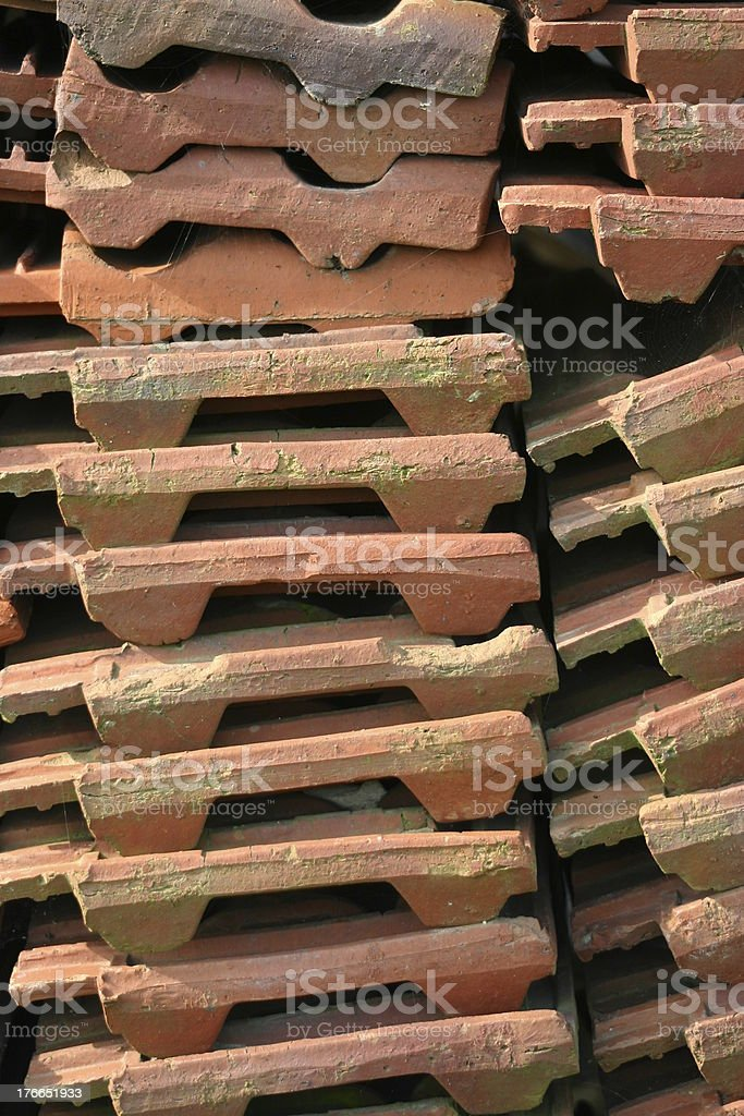 Roof tile stack stock photo