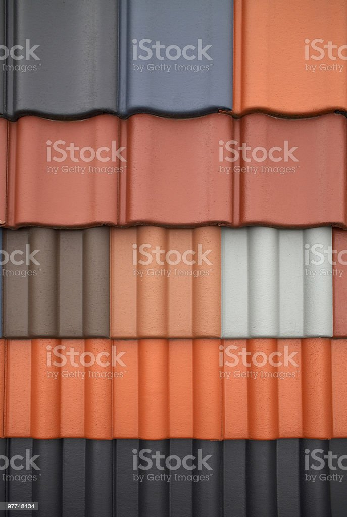 roof tile variations stock photo