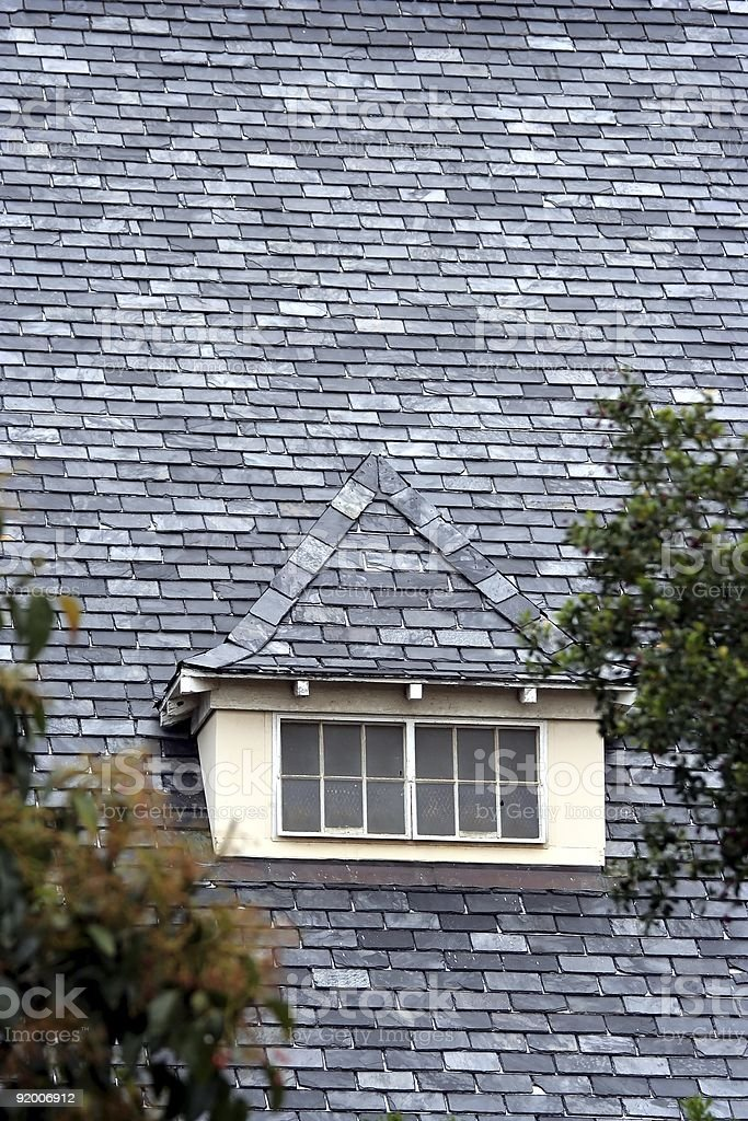 Roof Tiles and Window stock photo