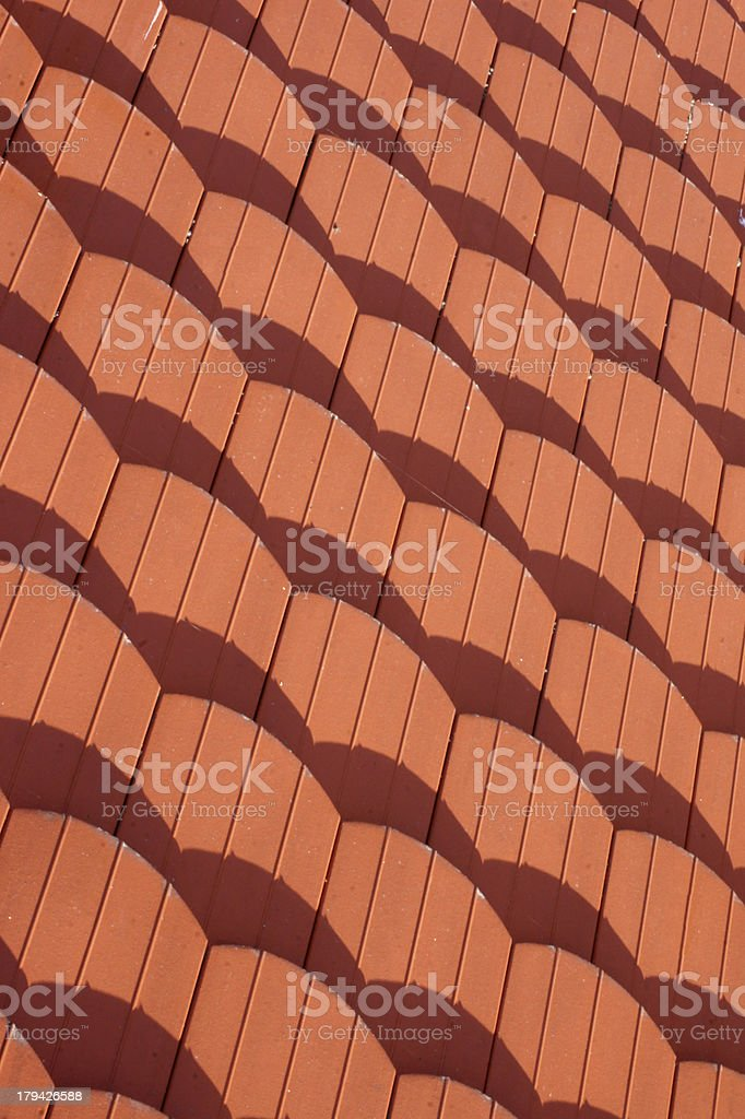 Roof tiles background royalty-free stock photo