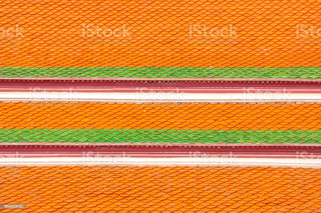 Roof tiles texture , roof of temple background texture. at Grand palace Bangkok Thailand. stock photo
