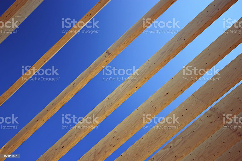 Roof timbers royalty-free stock photo