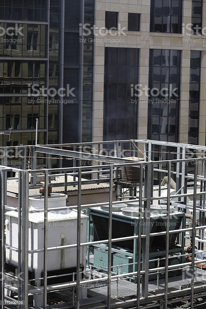Roof Top Aircon royalty-free stock photo